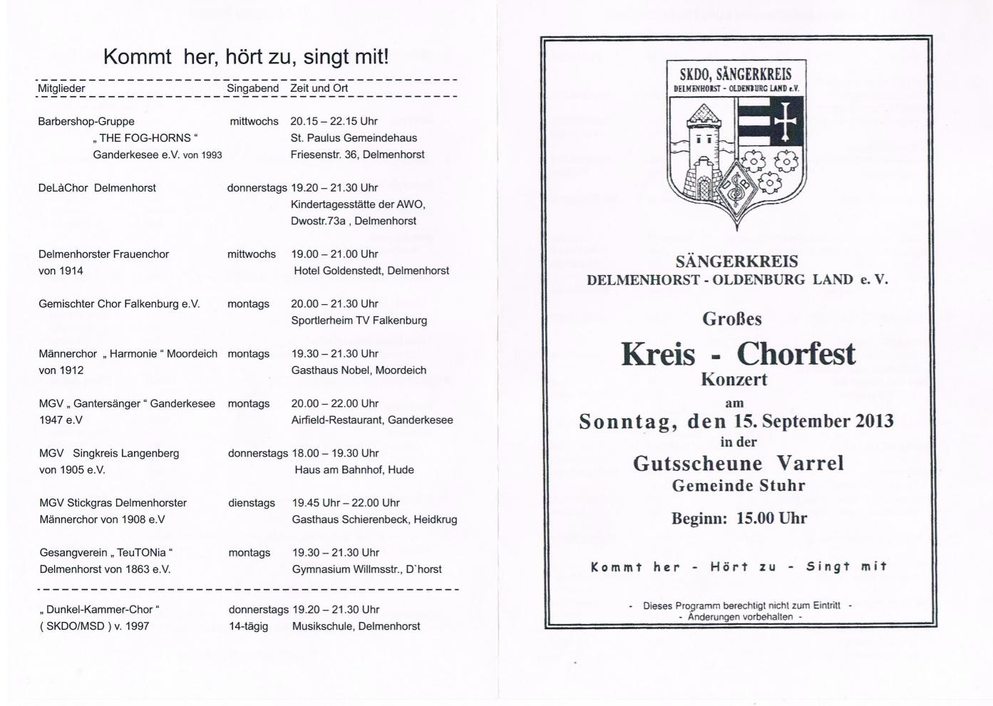 teutonia mit helmfried röder, begründer des gemischten chors und, Einladung